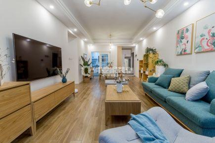 重庆首钢美利山82平三居室北欧风格装修实景案例