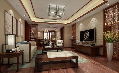 上海祥生御江湾别墅装修案例 中式风格别墅装修效果图