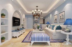 128㎡地中海风格装修设计 地中海清新三居室装修效果图