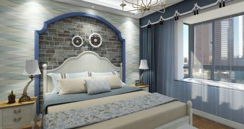 宁波里仁花园四居室装修案例,浓浓地中海风情