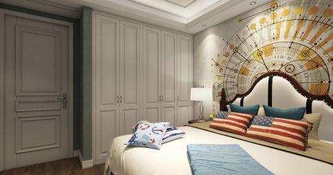 宁波凯旋华庭尊贵美式三居室装修 美式风格三居室装修案例