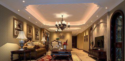 漳州港观山海美式风格三居室装修效果图,住起来真舒服