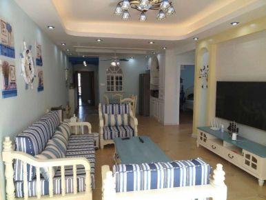 观山海美式三居室装修案例
