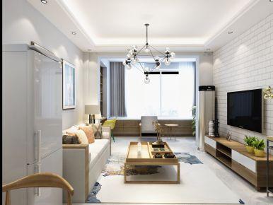 半岛国际北欧风格三居室效果图