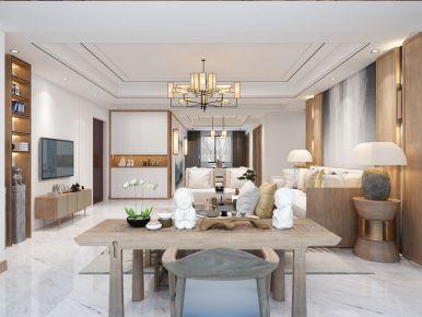 蓝湾国际现代风格三居室装修图片