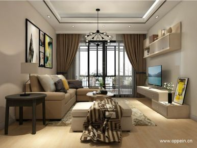 广州市现代两居室小户型装修案例