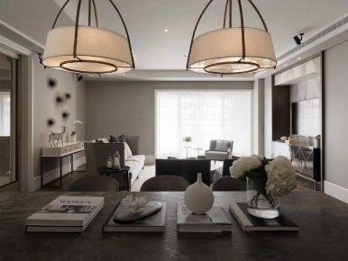 西安龙盛广场现代风格三居室效果图赏析