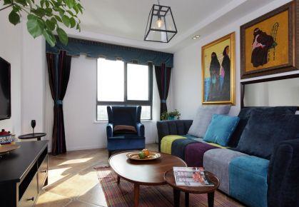 湘潭地中海风格三居室装修实景图