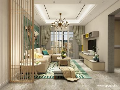 广州市欧式风格三居室装修案例