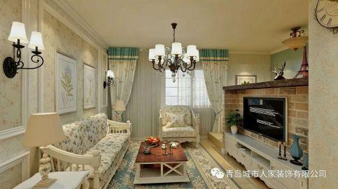 青岛新贵都简约两居室小户型装修设计