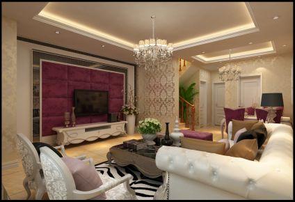 青岛欧式风格三居室装修图片大全