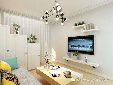 青岛简约风格小户型两居室装修案例