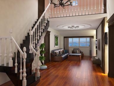 青岛中式风格复式楼装修设计方案