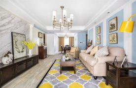 常州中央华城美式风格四居室装修案例