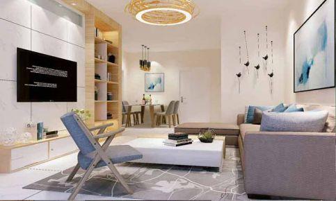 武汉保利时代110平米两居室装修效果图