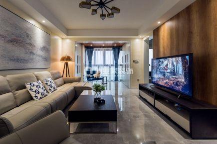重庆江与城原山时光109平三室现代风格装修实景案例