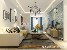 青岛中南世纪城现代两居室装修图片赏析