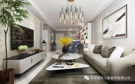 青岛秀兰·禧悦都现代三居室装修效果图