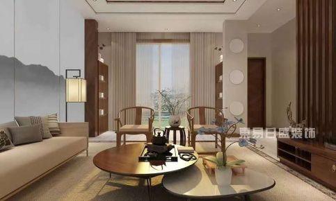 天津新中式风格四居室装修案例