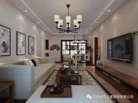 青岛中式风格三居室装修图片大全