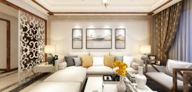 绍兴日月家园新中式风格三居室装修效果图