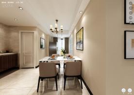 杭州混搭风格小两居室装修案例