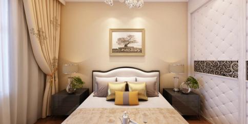 绍兴天御湾简约美式风格三居室装修效果图