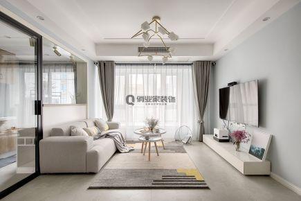 重庆煌华晶萃城78平三室北欧风格装修案例