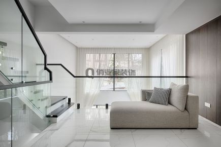 重庆逸翠庄园234平联排别墅北欧风格装修实景案例