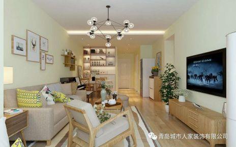 青岛中城嘉汇欧式风格两居室装修案例