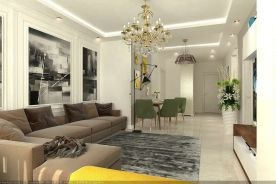 烟台现代简约风格三居室装修实景图