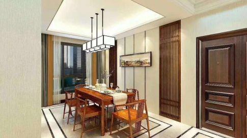 烟台新中式风格四居室装修效果图