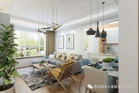 青岛鲁润静园欧式风格三居室装修效果图