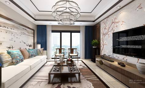 杭州擎天半岛北欧风情三居室装修案例