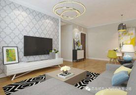 青岛中信城简约风格三居室装修案例
