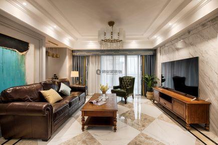 重庆山顶道国宾城美式风格四居室装修实例