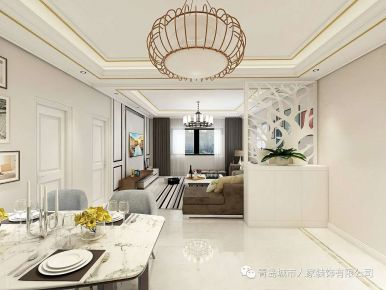 青岛午山社区中式风格四居室装修案例