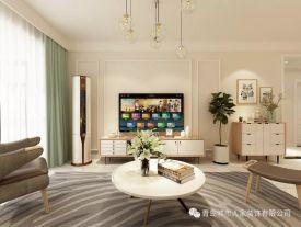 青岛蓝湖公馆简约风格三居室装修效果图