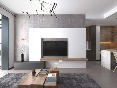 西安英郡年华现代风格三居室装修效果图