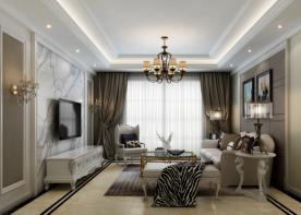 徐州龙城国际风格案例 三居室简欧风格效果图