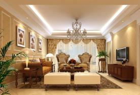 徐州金泰名城欧式风格效果图 三居室欧式风格设计