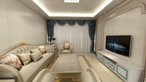 广州阳光家园现代风格四居室装修实景图