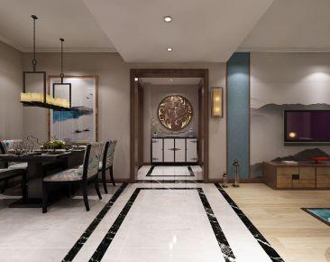 大连新中式风格三居室装修图片大全