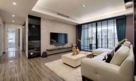 郑州120㎡现代简约风格三居室装修案例