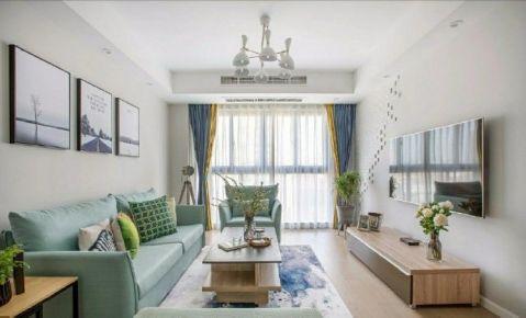 郑州89平米现代风格三居室装修案例
