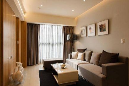 郑州瑞祥小区60平米两居室装修案例 两居室现代简约风格装修效果图