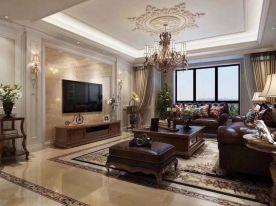 郑州140平米欧式风格四居室装修效果图