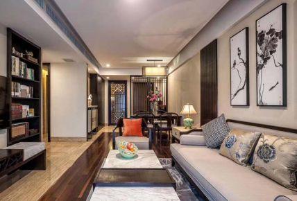 郑州127平米中式风格三居室装修案例