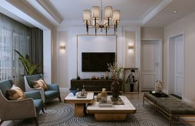 贵阳122平米现代风格三居室装修效果图