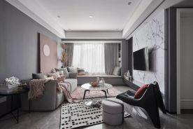 大连现代风格三室两厅装修效果图